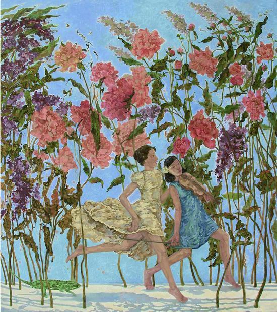 踏歌行-春风 布面油画 190×180cm 2014年