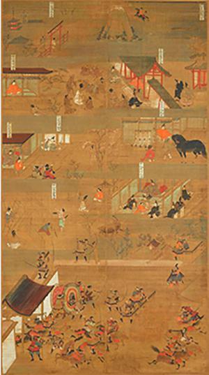 重要文化遗产 远江法桥画圣德太子画传(6幅中的第3幅)镰仓时代(元亨三年,1323年)大阪四天王寺藏