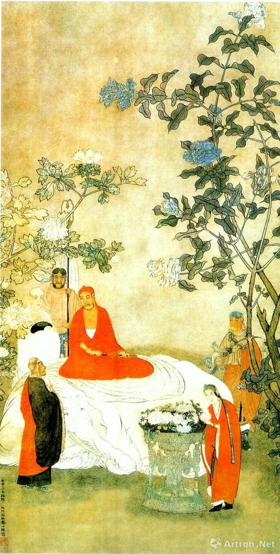 《达摩图》(明代吴彬,绢本设色,北京故宫博物院藏)