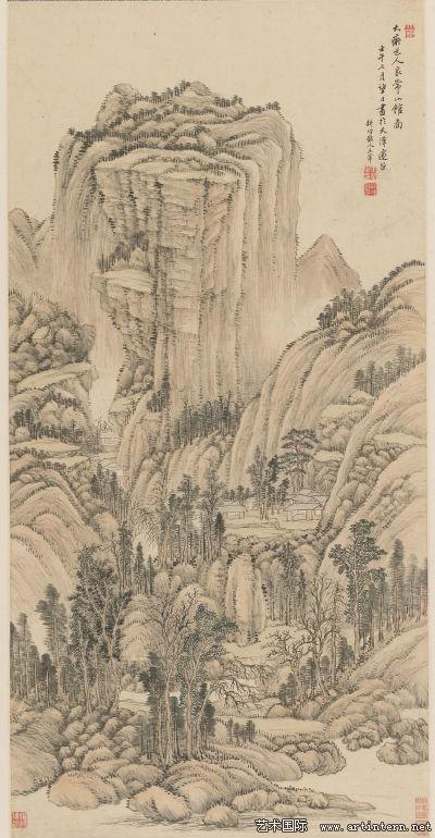 图六王翚《良常山馆图》亚博体育怎么结算市艺术博物馆藏