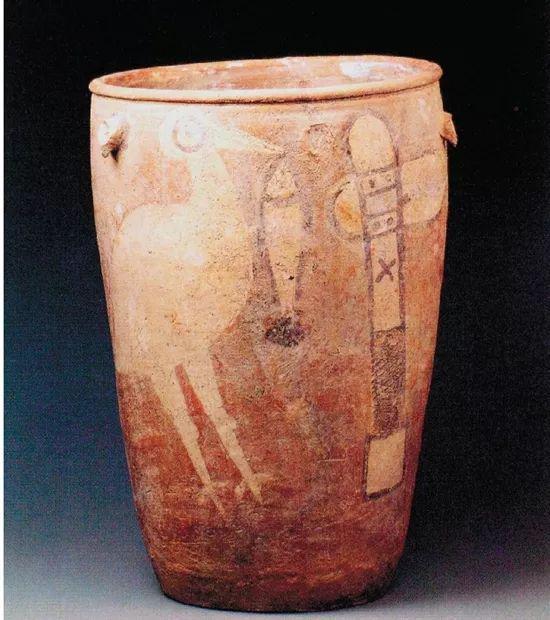 鹳鸟石斧图彩陶缸