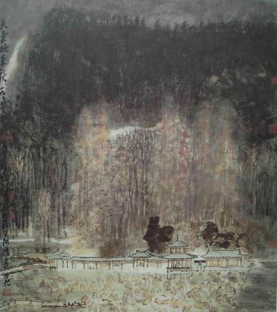 童中焘,《曲院风荷》99x88cm,1990年