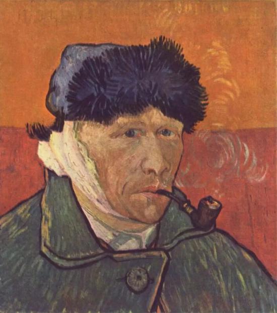 梵高《自画像:包扎过的耳朵和烟斗》