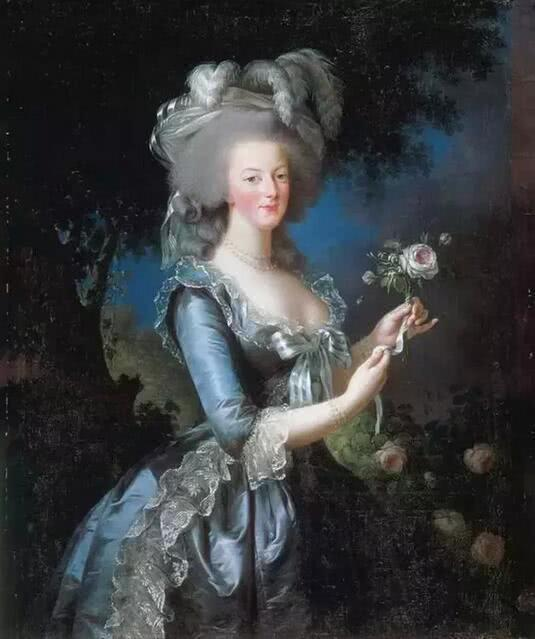 《执玫瑰的玛丽·安托瓦内特》1783年 法国巴黎凡尔赛宫藏