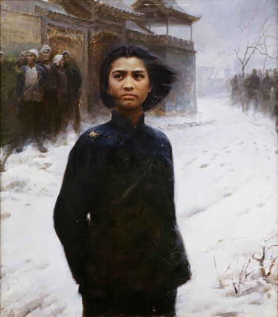 刘耀真,《刘胡兰》,110×91cm,布面油画,1978年