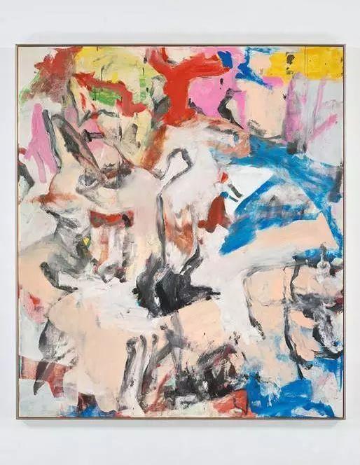 威廉·德·库宁《无题XII》,油彩、画布,202.6×177.2cm,1975年