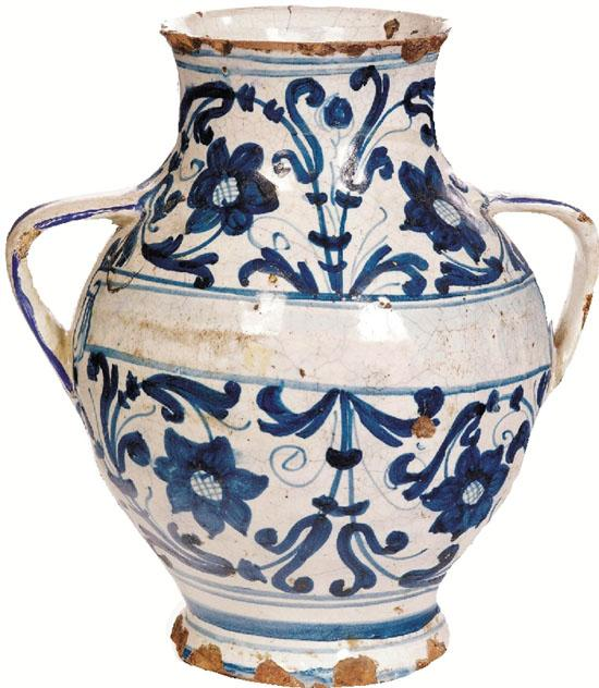 双耳陶花瓶 21.5cm(高)