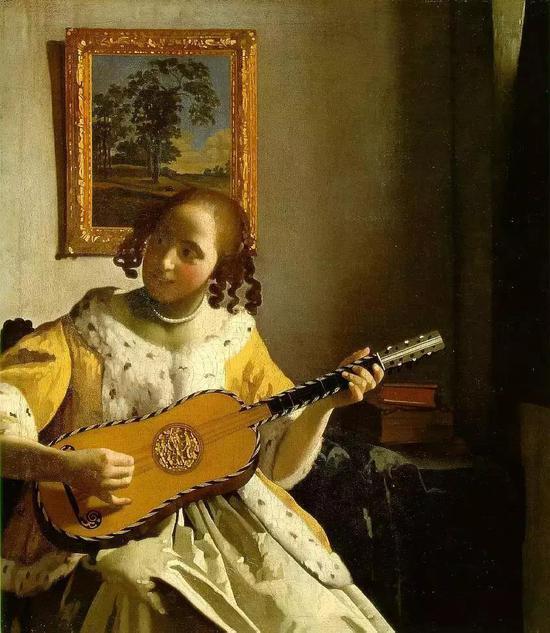 维米尔 《弹吉他的少女》