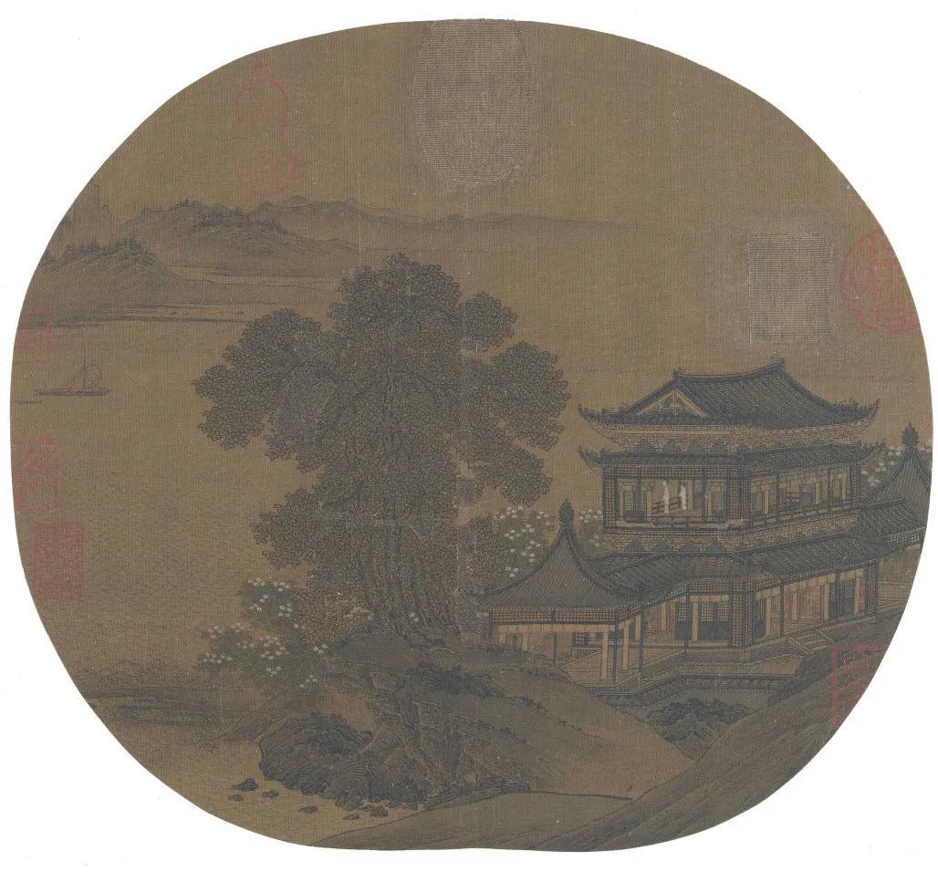 宋代山水小品畫中的亭臺樓閣