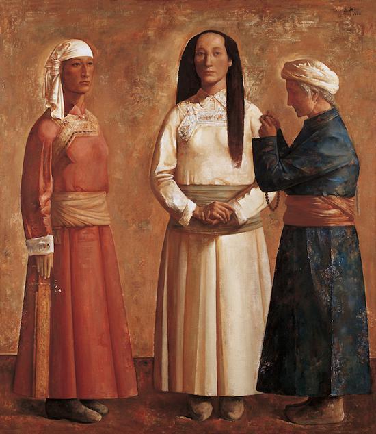 韦尔申 吉祥蒙古 160cm×140cm 1988年 中国美术馆藏