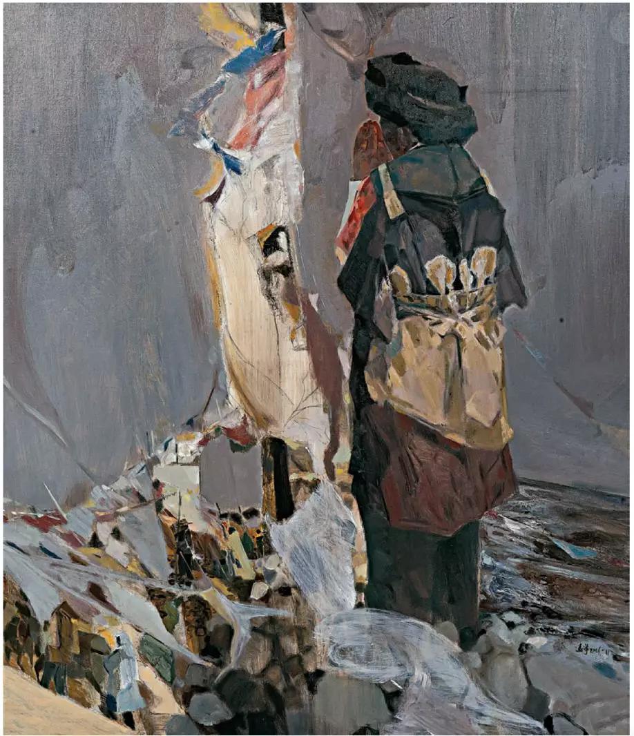 缪远洋 《茶马古道》 布面油画 139cm×159cm 2016