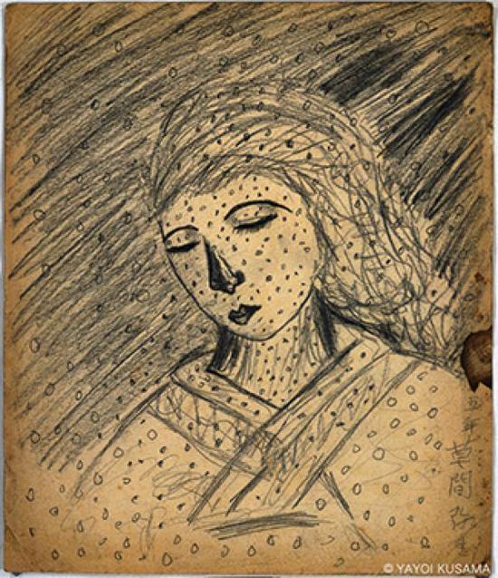 草间弥生,《无题》,1939,图片版权:草间弥生