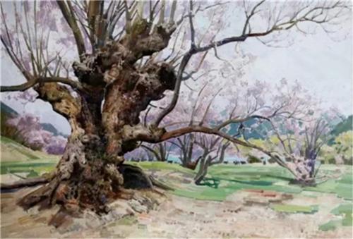 《雅鲁藏布江畔的桃花》120×80cm