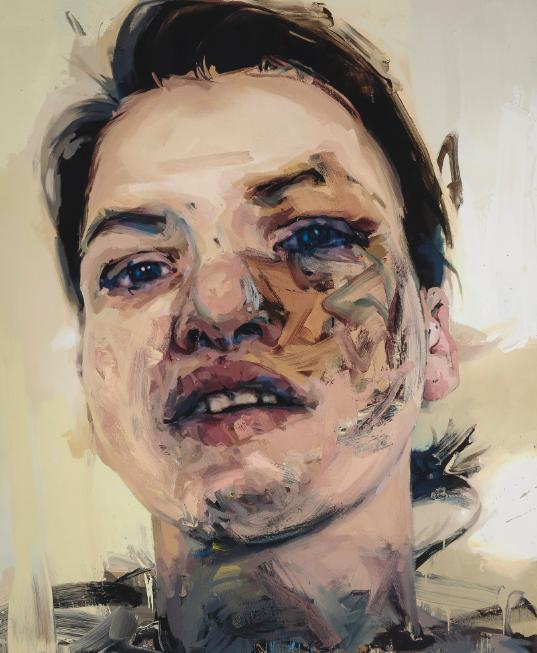 珍妮?萨维尔《阴影头像》油彩画布 269.2x219.7cm 2007-2013年作