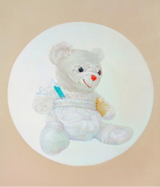 王晓燕《圆系列之一 · 熊》73x60cm2013年