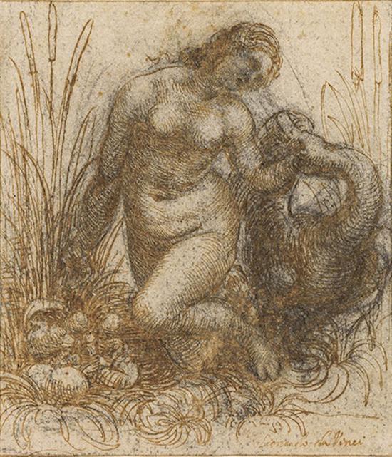 达·芬奇,丽达与天鹅,1506-1508