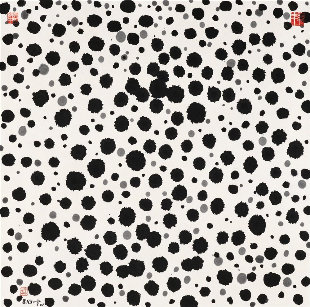 播 2001年 吴冠中 69×69厘米 纸本水墨 中国美术馆藏