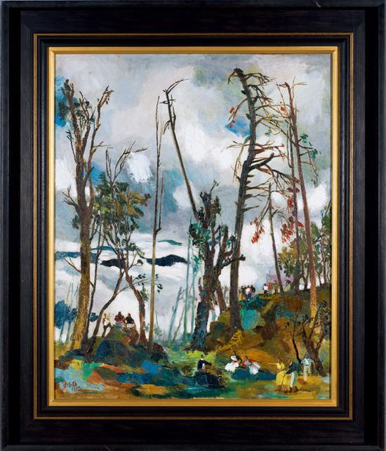 朱德群《八仙山》布面油画 83×67cm 1954