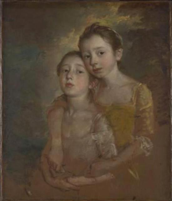 画家的女儿与猫,托马斯-庚斯博罗,1760-61年