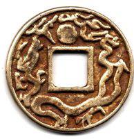 图10 银鎏金(直径44.2mm 厚3.7mm 重40.2克)