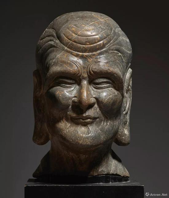 宋至明初 石雕罗汉首像