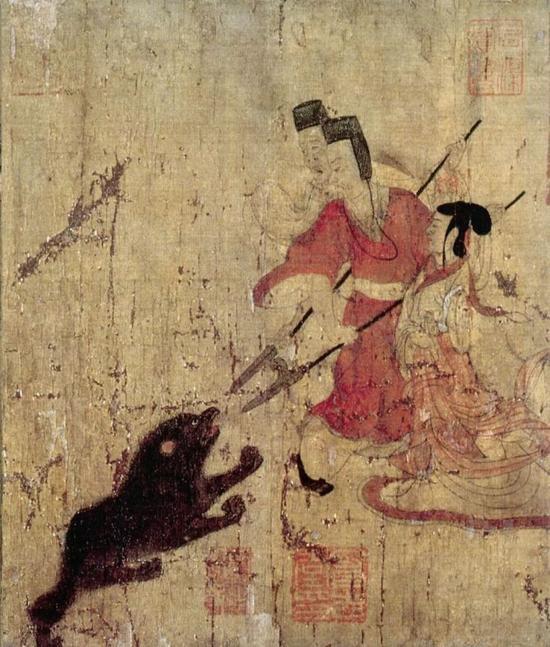 《女史箴图》局部 唐代摹本 大英博物馆藏