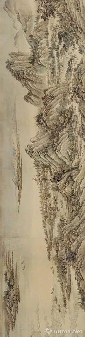 清代王翚《长江万里图》局部