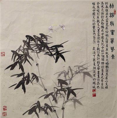 《竹梢微响觉风来》 纸本水墨 陈湘波
