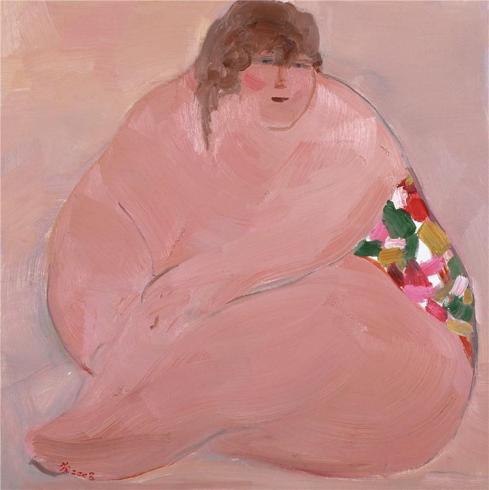 桃色旋风 2008年 吴冠中 61×61厘米 油画 中国美术馆藏