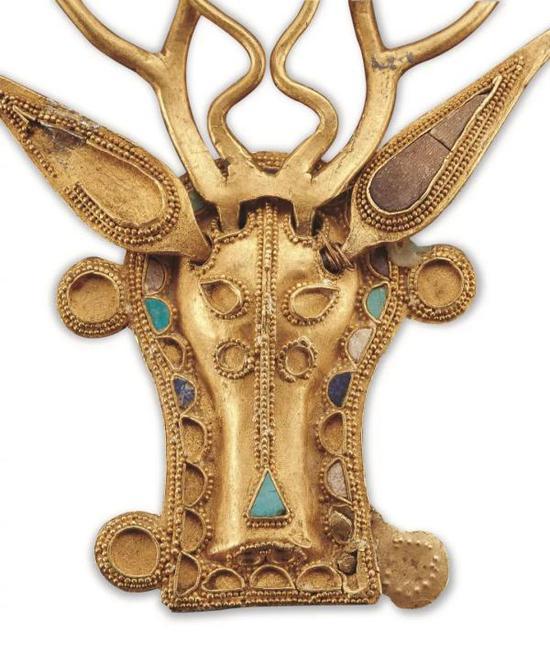 西晋 鹿首步摇冠 内蒙古博物院藏,内蒙古自治区包头市达茂旗西河子窖藏出土