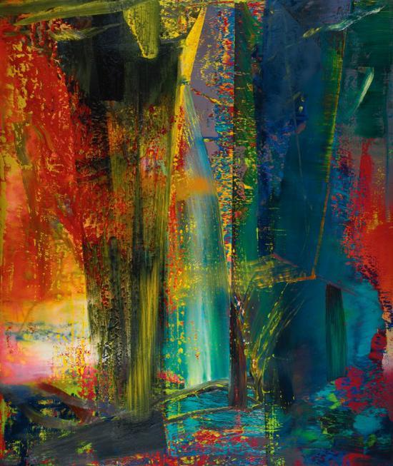 里希特《抽象画》300.5 x250.5cm 1986年 2015年成交价3040万英镑创拍卖纪录