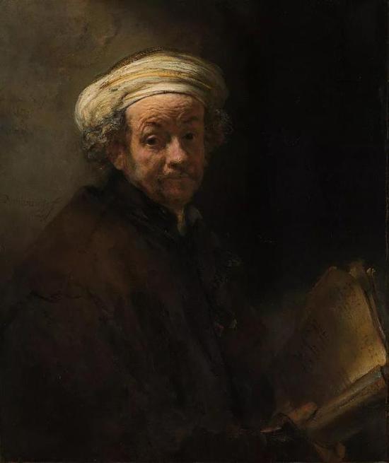 伦勃朗,《自画像》,布面油画, 1661年,荷兰国立博物馆