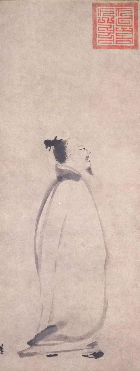 《李白行吟图》 梁楷 东京国立博物馆藏