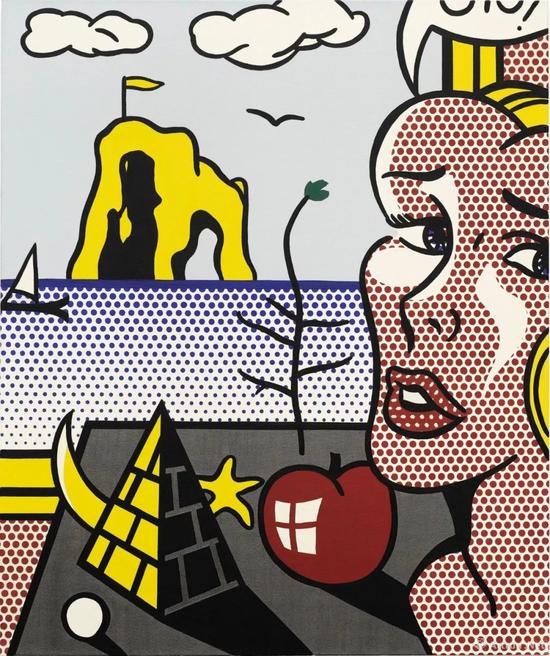 罗伊・李奇登斯坦(Roy Lichtenstein)《静物、头像与风景》成交价:1050万美元