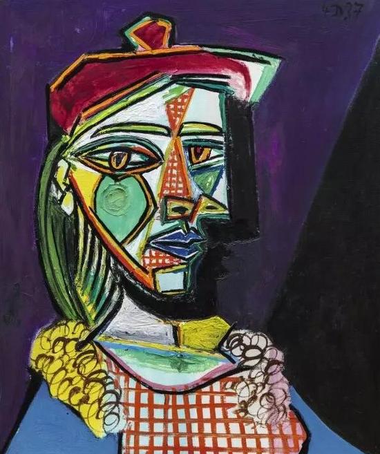 巴布罗·毕加索(Pablo Picasso)《玛莉·德雷莎·沃特》,1937年作已售62,537,338美元