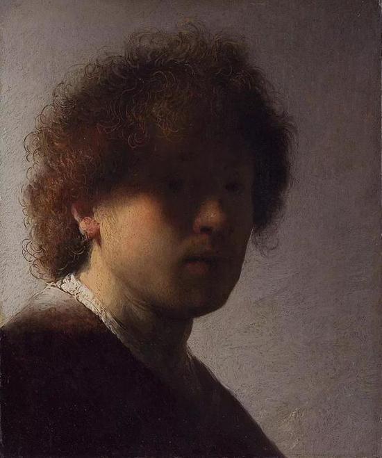 伦勃朗,《自画像》,布面油画,1628年,荷兰国立博物馆