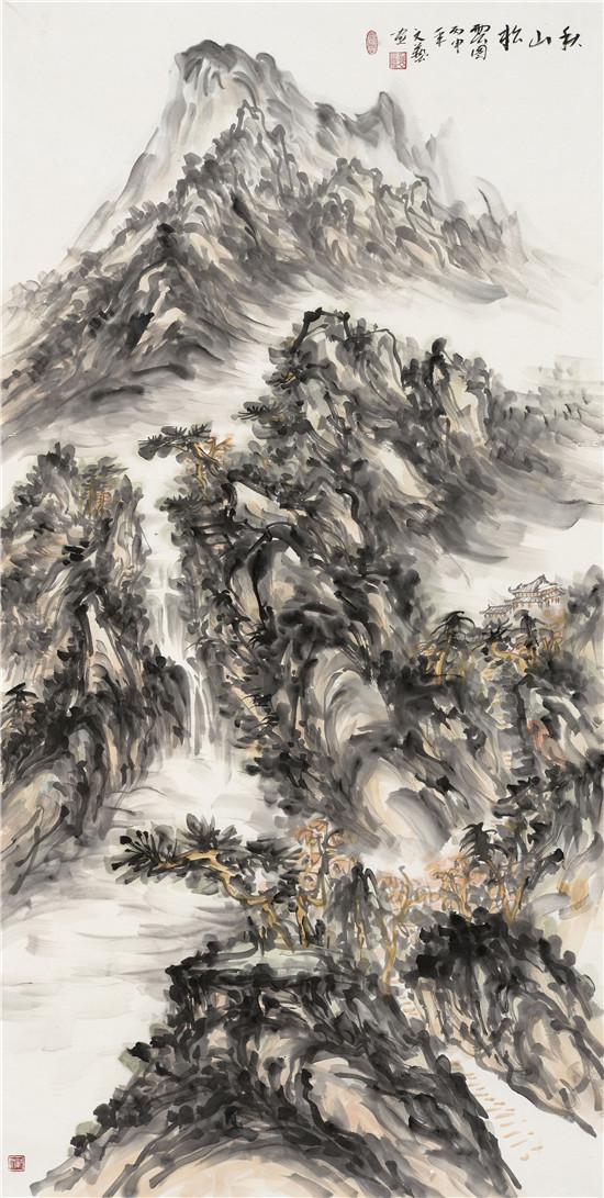 秋山松云图 68x180cm