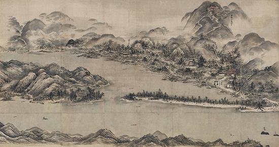 国宝 雪舟等杨画天桥立图 室町时代(15世纪)京都国立博物馆藏