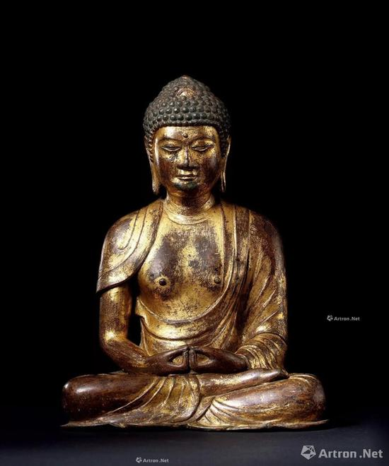 NO.20 11世纪 大理国 铜鎏金阿弥陀佛坐像