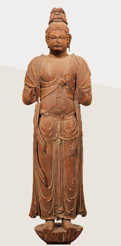 重要文化遗产 传众宝王菩萨立像 奈良时代(8世纪)奈良唐招提寺藏