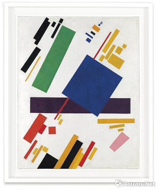 《至上主义构图》在纽约佳士得以8581.2万美元,刷新了马列维奇以及俄罗斯艺术家最高拍卖纪录