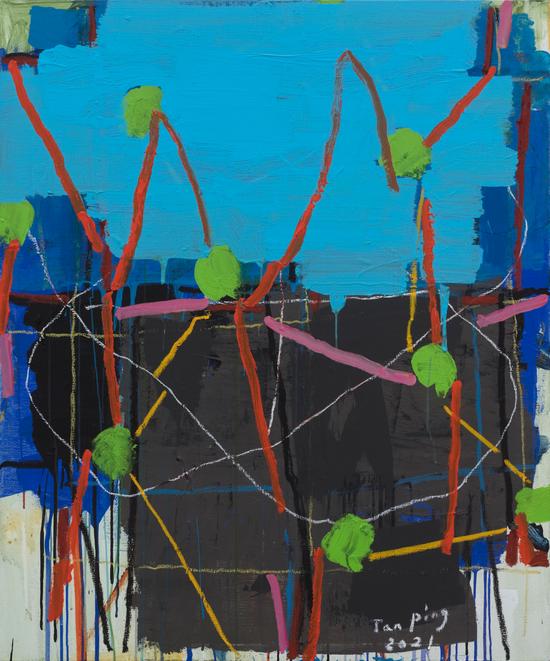 《无题》,布面丙烯,120 x 100 cm,2021