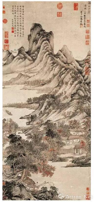 王蒙《秋山草堂图》