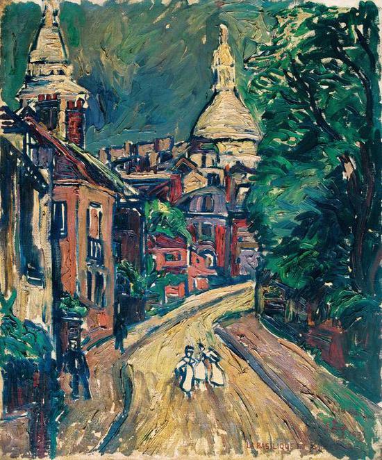 刘海粟,《巴黎圣心院》,1931,布面油彩,73×60cm,龙美术馆