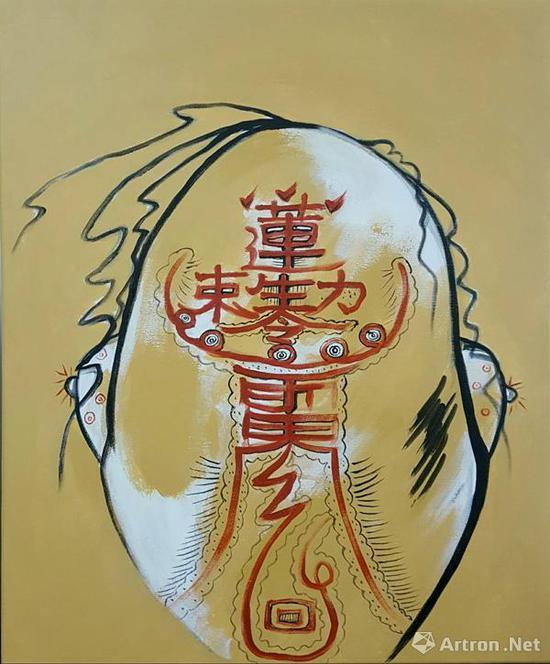 张天志,《中国一家人》之三  60cm x 50cm  布面丙烯