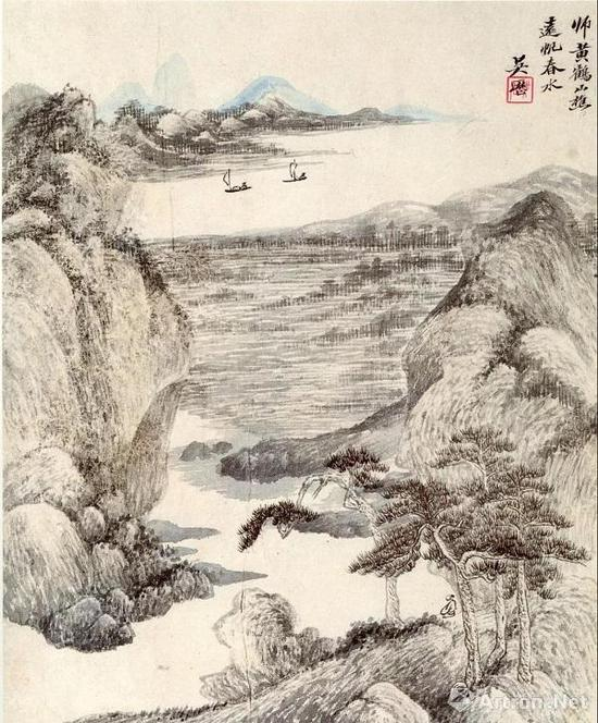 吴历 仿古山水册之三 南京博物院藏