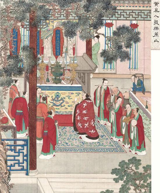 ▲《清宫珍宝皕美图》,清内府彩绘绢本