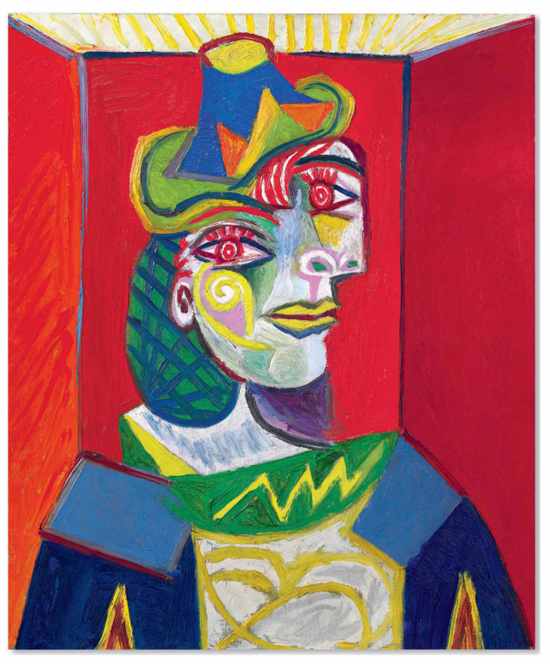 No.8毕加索《女人半身像 (朵拉・玛尔)》65.1 x 54cm 1938年1月12日作于巴黎
