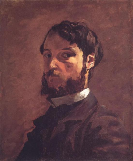 巴齐耶《自画像》,布面油画,54.6×46.4cm,1867-1868年