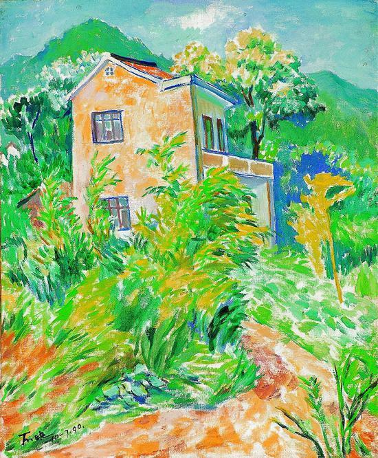 丁天缺《风》 布面油画 1990年